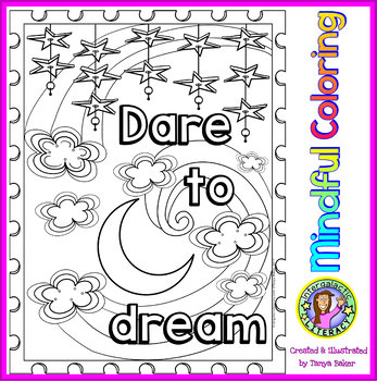 Growth Mindset & Motivational Coloring Sheets - Set 1