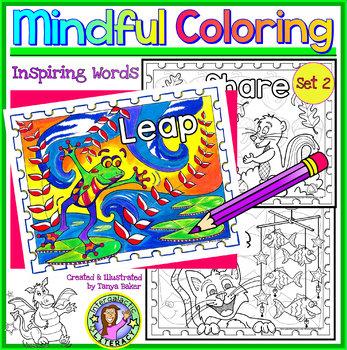 Growth Mindset & Motivational Coloring Sheets - Set 2