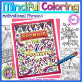 Growth Mindset & Motivational Coloring Sheets - Set 3