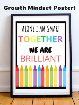 Growth Mindset Motivational Posters - Bright Colors - Inspirational Quotes -