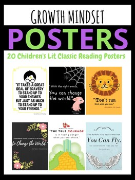 Growth Mindset Motivational Posters - Children's Literature  Quotes