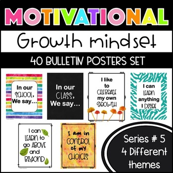 Growth Mindset Motivational Posters Series 5