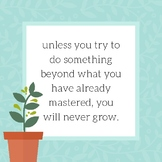 Growth Mindset Motivational Quote Print