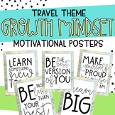 Growth Mindset Motivational Quotes Posters Travel Theme