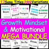 Growth Mindset & Motivational Song Title POSTER SET Many choices
