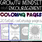 Growth Mindset Coloring Pages | Growth Mindset Posters | Testing Motivation
