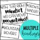 Growth Mindset Mountain Mover Bulletin Board Kit
