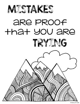 Growth Mindset Mountain Nature Themed Posters