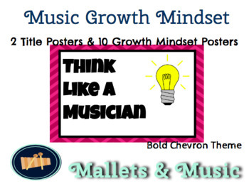 Growth Mindset Music Posters - Bold Chevron