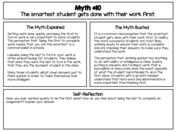 Growth Mindset Myth Busters - Busting 10 Myths of a Fixed Mindset