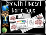 Growth Mindset Name Tags