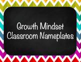 Growth Mindset Nameplates