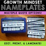 Growth Mindset Nameplates - Neon Dots