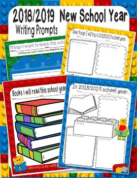 Growth Mindset New Year New You 2018-2019 LEGO Like Writing Prompts