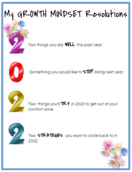 Growth Mindset New Year's Resolutions
