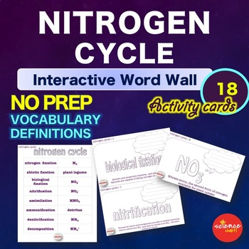 Science - Nitrogen Cycle - Interactive Word Wall Activity - NO PREP