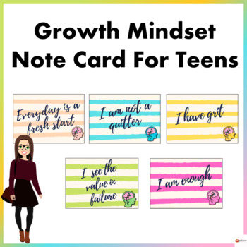 Growth Mindset Note Cards for Teens