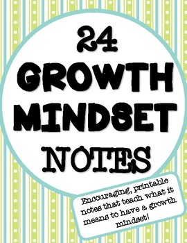 Growth Mindset Notes