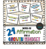 Growth Mindset Notes | Notes of Affirmation | For Students From Teachers