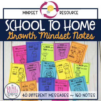 Growth Mindset Notes ~ School to Home