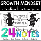Growth Mindset Notes - TARGET ADHESIVE LABELS - Desk Notes