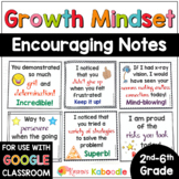 Growth Mindset Notes from the Teacher Distance Learning | Notes of Encouragement