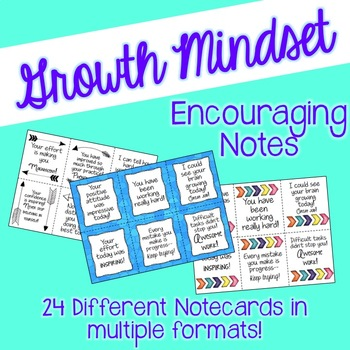 Growth Mindset Notes of Encouragement
