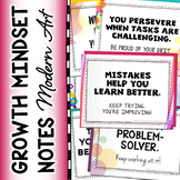 GROWTH MINDSET NOTES for Students in Grades 5-12 (Modern Art Theme)