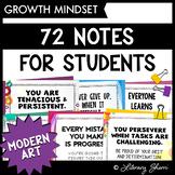 GROWTH MINDSET: 72 Motivational Notes for Students (Modern Art)