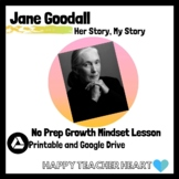 Jane Goodall Growth Mindset One Day Lesson and Sub Plan