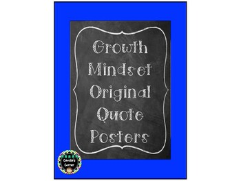 Growth Mindset Original Quote Posters