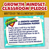Growth Mindset PLEDGE Poster - Morning Routine Classroom Pledge