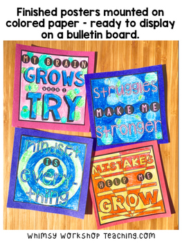 Growth Mindset WRITING POSTERS