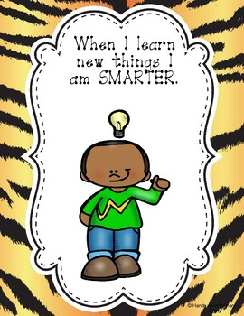 Growth Mindset  Posters, Reward Certificates and Activities- Animal Theme