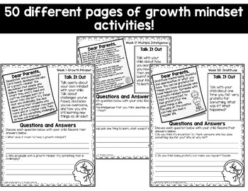 Growth Mindset Parent Pack