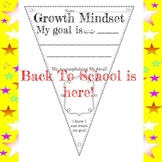 Growth Mindset Pennant Back to School Goals