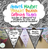 Growth Mindset Pennant Banner Coloring Pages