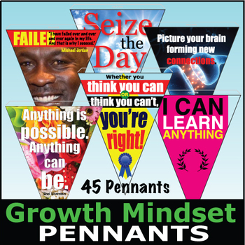 Growth Mindset Pennants