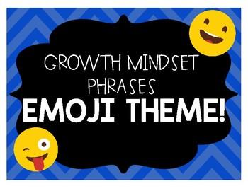 Growth Mindset Posters EMOJI Theme!