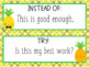 Growth Mindset Posters Pineapple Theme!
