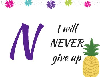 Growth Mindset- Pineapple Themed