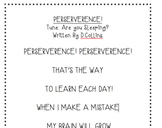 Perseverance/Grit Mindset Poems/Songs/Movement