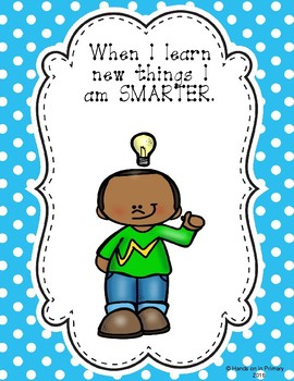 Growth Mindset  Posters, Reward Certificates and Activities Polka Dots