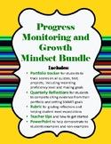 Growth Mindset Portfolio Progress Monitoring Bundle