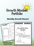 Growth Mindset Portfolio- Self-Portraits, Reading Growth! First Grade