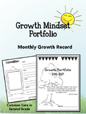 Growth Mindset Portfolio- Self-Portraits, Reading Growth!