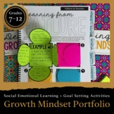 Growth Mindset Portfolio for Teens: Interactive Notebook (DIGITAL INCLUDED)