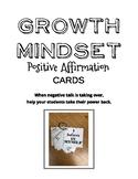 Growth Mindset-Positive Affirmation Cards