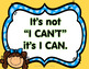 Growth Mindset Posters Positive Affirmation