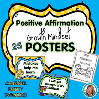 Growth Mindset Posters for the Classroom  Positive Affirmation Posters w Journal